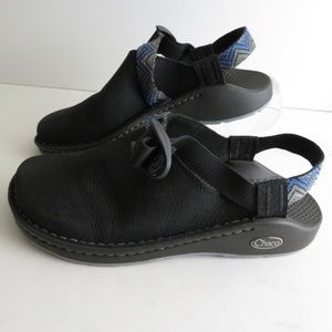 CHACO Pedshed slip on shoes black leather mule